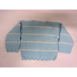 Jersey Azul / Listas Crudo T 0-1