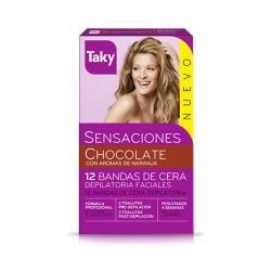 Bandas Cera Depilatoria Faciales Taky Sensaciones Chocolate