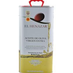 Aceite de oliva virgen extra El Henazar 5 L.