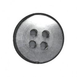 Botón Nacarado Gris Claro/Negro