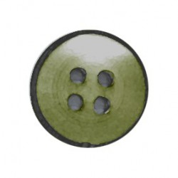 Botón Nacarado Verde/Negro