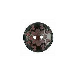 Botón Decorado Flor Granate