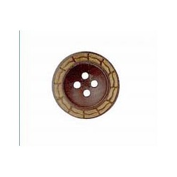 Botón Madera Bicolor