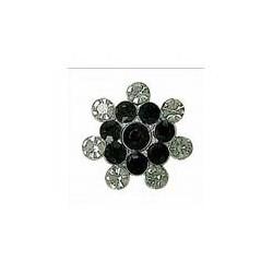 Botón Circonitas Negro